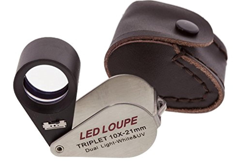 SE MJ37802LV Triplet 10x 21mm LED Loupe with Dual White and UV Light