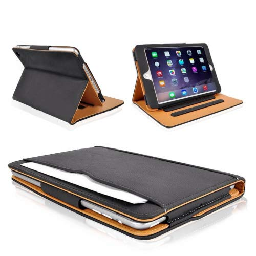 MOFRED® Black & Tan Apple iPad Air 2 (Launched 2014) Executive Leather...