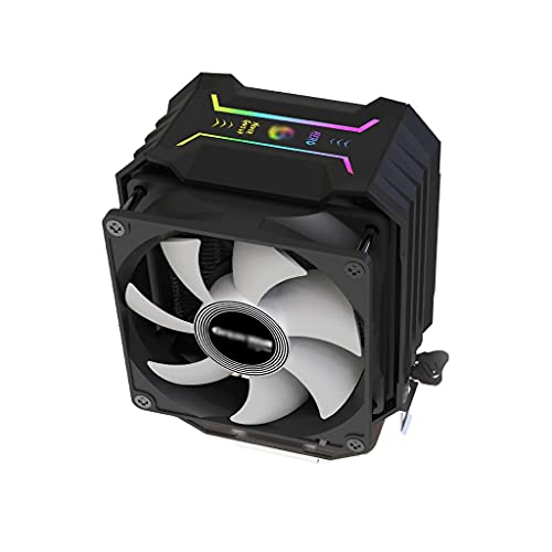AWYST PC Cooler CPU Air Cooler 2 continuo contacto directo heatpipes RGB cambiante color LED CPU Cooler 100mm PWM Fan Disipador