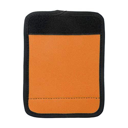 Cubierta de la manija del equipaje del neopreno portátil del abrigo de la manija del equipaje para el icycle del carrito de la compra para la mayoría de las(Fluorescent orange)