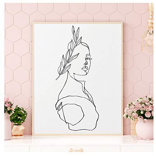 Aphrodite Print Abstrakte Grafik Statue Büste Griechischer Stil Poster Wandkunst Strichzeichnung Schwarz Weiß Kunst Leinwand Gemälde-50X70cm Rahmenlos