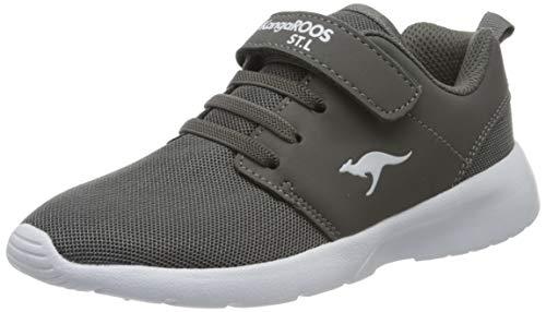 KangaROOS Unisex-Kinder Hinu Ev Sneaker, Grau (Steel Grey 2005), 36 EU