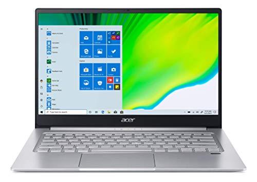 Acer Swift 3 SF314-42-R1JR Ordinateur Portable Ultrafin 14 FHD IPS, PC Portable (AMD Ryzen 5-4500U, RAM 8 Go, SSD 512 Go, AMD Radeon Vega, Windows 10) - Clavier AZERTY (Français), Laptop Gris