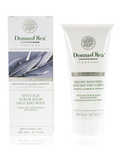 Domus Olea Toscana Anti-Aging cosmetici biologici Scrub e maschera del viso / corpo 200 ml