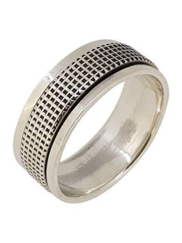 TreasureBay 8,5 mm massives 925 Sterling Silber Ring Drehring Stress Relief Ring wählen Sie Ihre Größe