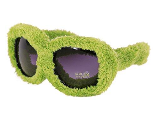 Alsino Plüschbrille Fun Brille Gagbrille Partybrille Apres-Ski Fasching Fellbrille 40, wählen:F-040 plüsch grün