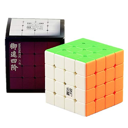 LiangCuber Yongjun Yusu V2 M 4x4 Speed Cube YongJun YJ YuSu 2M 4x4x4 Magnetic Magic Cube 61mm Stickerless (Magnetic Version)