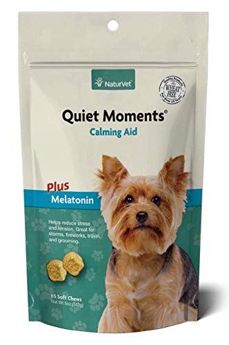 NaturVet - Quiet Moments Calming Aid Plus Melatonin