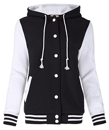 Yafex College Jacke Kapuze Hoodie Sweatshirt Wintermantel Coat M KK481-1