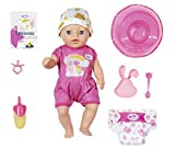 Zapf Creation 827321 BABY born Soft Touch Little Girl Puppe mit Funktionen und Zubehr, 36 cm