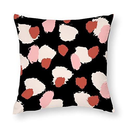 YY-one Fundas de almohada decorativas dibujadas a mano con pinceles, patrón sin costuras, decorativas, fundas de cojín de algodón, para sofá, silla, asiento, cuadrado, 45,7 x 45,7 cm