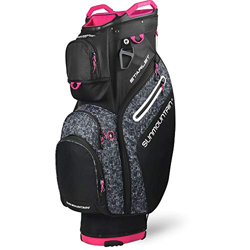 Sun Mountain Women's Starlet Cart Bag Ladies Golf 2020 Black/Knit/Pink New