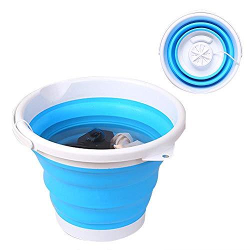 Weitong Mini Waschmaschine, Camping Mobile Waschmaschine,Tragbare Mini Turbo Waschmaschine Laundry Tub Mit Faltbarer Ultraschall Turbinenwaschanlage
