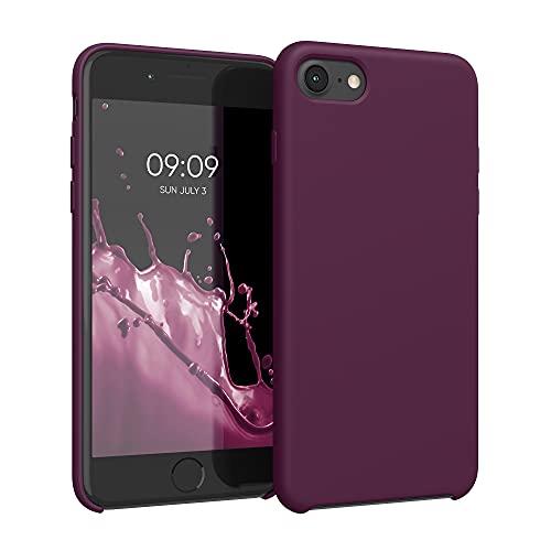 kwmobile Custodia Compatibile con Apple iPhone 7/8 / SE (2020) - Cover in Silicone TPU - Back Case per Smartphone - Protezione Gommata Viola Bordeaux