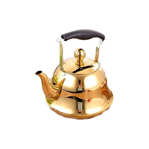 XIAONINGMENG Wasserkocher, 304 Edelstahl-Wasserkocher, Home Kitchen Essential, Sound Safe and Reliable, 3/4 / 5L Silber/Gold/Rose Gold (Capacity : 3l, Color : Gold)