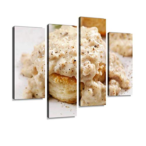 YKing1 Biscuits and Gravy Sausage Stock Pictures, Royalty Free Photos Wall Art Painting Pictures Print On Canvas Stretched & Framed Artworks Modern Hanging Posters Home Decor 4PANEL