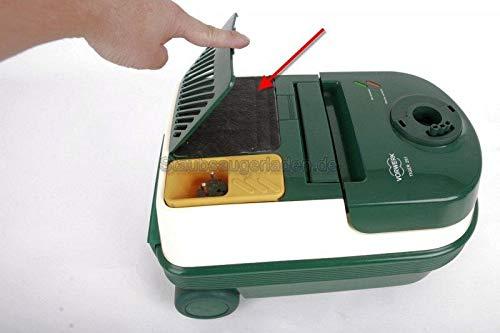 2 Hochwertige Filter, Abluftfilter mit Aktivkohlebeschichtung passend für Vorwerk Tiger VT 251 252 - Filtert die Abluft und neutralisiert Gerüche - nach Gebrauch von 2-3 Staubbeuteln wechseln