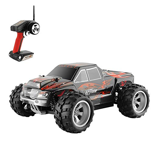 Voberry RC Cars for Kids, 1:18 Scale All Terrain RC Car 50KM/H High Speed, 4WD Electric Vehicle,2.4 GHz Radio Controller, Included Battery and Charger Off-Road Truck (Red)