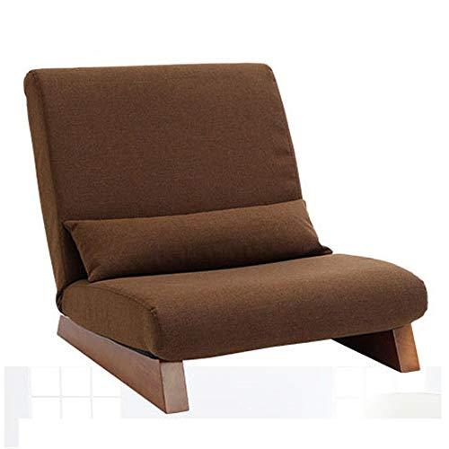 Schlafzimmer Faule Sofa Abnehmbare Kissen Sessel Vintage Sitz Akzent Stuhl Sofa Recliner Klappstuhl Hohe Zurück Home Kleine Wohnung Wohnzimmer (Color : Brown, Size : 70 * 68 * 73cm)