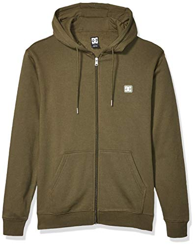DC Herren Rebel Zip UP Fleece 3 Kapuzenpulli, Müdigkeit Grün, Small