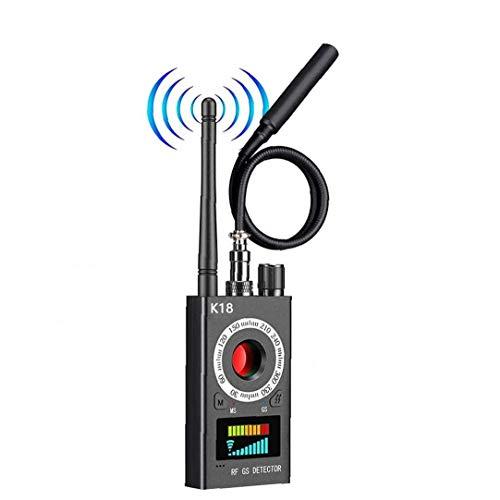 Canjerusof Wanzen-Detektor Signal Kamera-Detektor Bug Finder Anti Spy-Detektor GPS Locator Wireless-Gerät für GPS-Tracking-GSM Schwarz Zuhören