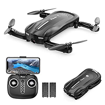 Potensic D18 Foldable Drone with 1080P Camera for Beginners, WiFi FPV Quadcopter with Dual Batteries, Altitude Hold, Optical Flow Anti-Collision RC Toy Drones for Kids and Adults
