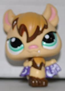 Vampire Bat #1680 (Tan, Green Eyes,) - Littlest Pet Shop (Retired) Collector Toy - LPS Collectible Replacement Single Figure - Loose (OOP Out of Package & Print)
