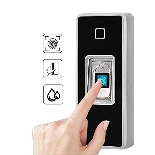Fingerabdruck Zugangskontrolle, Metall Fingerprint Codeschloss Zutrittskontrolle, intelligent Zugangssystem Türöffner für Home Sicherheit (#5)