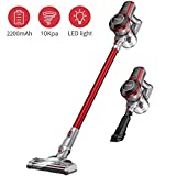 Muzili Cordless Stick Vacuum Cleaner, Hardwood Floor Carpet Vacuum Sweeper for Home, Pet Hair with Rechargeable Battery, LED Motorized Brush, Lightweight Wireless Vacuum Cleaner