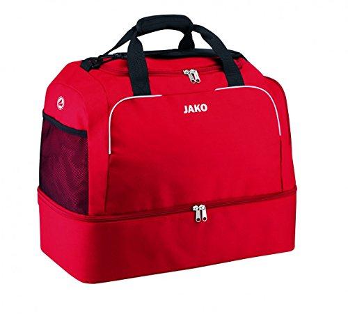 JAKO Sporttasche Classico - mit Schuhfach, Größe:2 (Senior), Farbe:rot