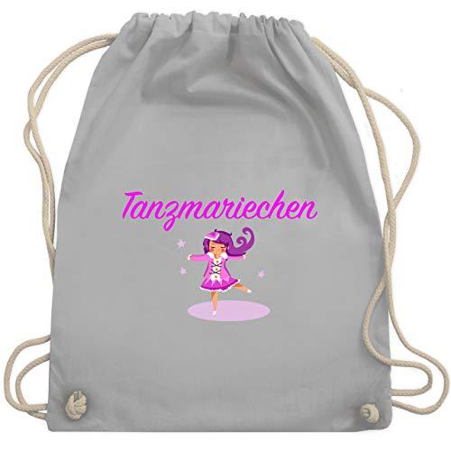 Shirtracer Karneval & Fasching - Tanzmariechen pink - Unisize - Hellgrau - turnbeutel pink - WM110 - Turnbeutel und Stoffbeutel aus Baumwolle