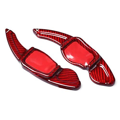Padillas de cambio Extensión de cambio de remolino de paleta de ruedas de dirección para VW GOLF MK5 MK6 GTI R20 R32 R36 CC Accesorios de Scirocco (Color : Rojo)
