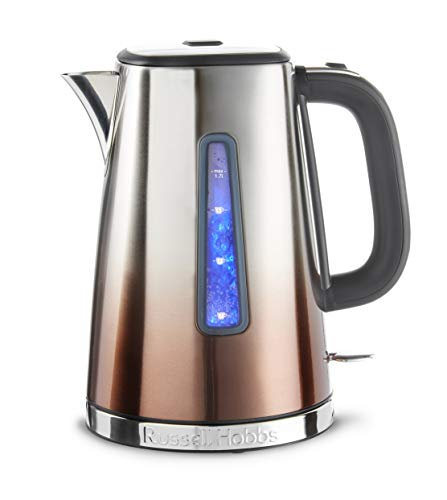 Russell Hobbs 25113 Eclipse Polished Stainless Steel and Copper Sunset Ombre Electric Kettle, 3000 W, 1.7 Litre