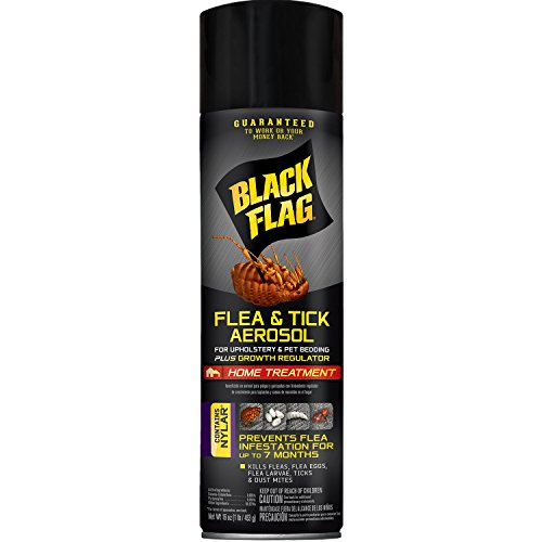 Black Flag Flea & Tick Killer for Upholstery & Pet Bedding Aerosol, 16-Ounce