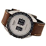Stauer Men's Drum Watch with Brown Leather Band