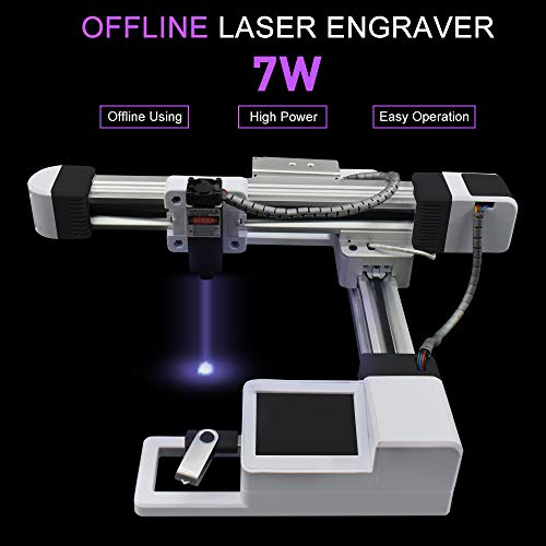 Carving Machine DIY Kit 7000mw Graviermaschine, Tragbare Desktop Laser Engraver, Mini Carver DIY Laser Logo Markendrucker Arbeitsbereich 155 * 175mm