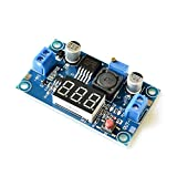 LYYCEU 10 unids/Lote lm2596 DC Buck Step Down CONVERTERADOR MÓDULO DC/DC 4.0~40V a 1.25-37V 2A Regulador de Voltaje Ajustable con LED Módulo electrónico