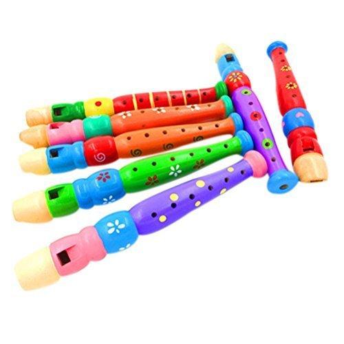 De madera Piccolo Flauta Silbato juguete niño Niña Regalo de Navidad Fiesta de cumpleaños Musical Juguete