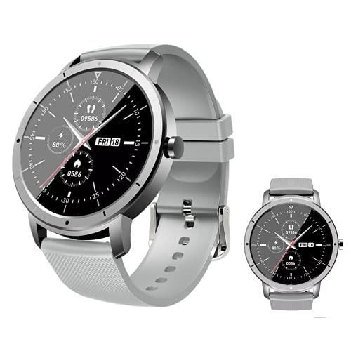 Reloj Inteligente Mujer Hombre, Pulsera Actividad, Smartwatch con Monitor de Pasos, Calorías, Sueño y Ritmo Cardíaco, Reloj Inteligente Impermeable IP68, Compatible con iOS y Android
