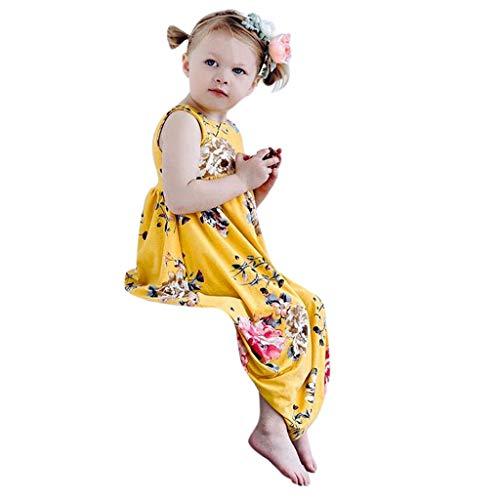 Amphia Amphia Mädchen Prinzessin Kleid - Baby-Karikatur-Plaid-Sleeveless Kleiderkleidung