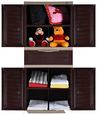 Supreme Fusion 2 Middle Drawer Cabinet (5 Feet X 2 Feet) for Home, Office and Multi-Purpose Use. (Brown/Beige)