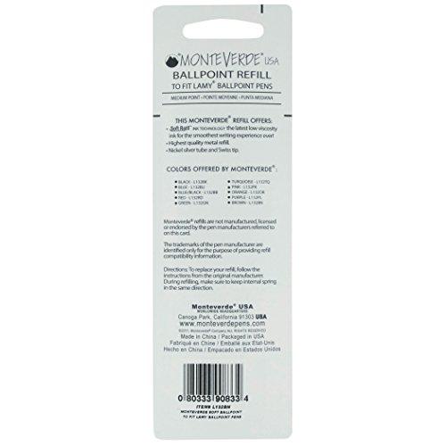 Monteverde Soft Roll Ballpoint Refill for Lamy Ballpoint Pens, Green, 2 Pack (L132GN) Photo #3
