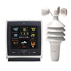 AcuRite Notos (00622) Pro Color Weather Station with Wind Speed, Temperature and Humidity, dark theme