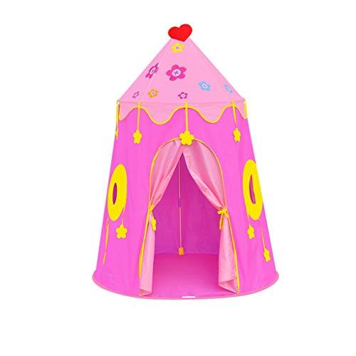 CSQ Niñas o niños Carpa Castillo, Tienda de campaña de Juguete niños Tienda Portable de Yurt Jardines al Aire Libre Juego de la Tienda/de Juegos for niños Espacio/Azul, Rosa Casa de Juegos para ni