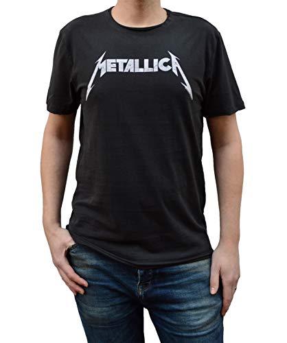 Amplified Camiseta con logo de Metallica para hombre X-Grande Carbón