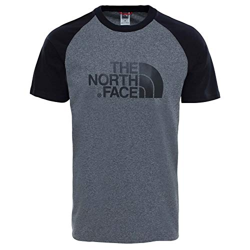 THE NORTH FACE Herren T-Shirt Raglan Easy Tee 37FV TNFMEDIUMGREYHEATHER(STD) XS