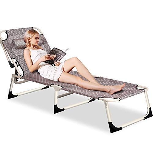 Axdwfd Chaise longue Chaise pliante, Bureau Déjeuner Chaise Siesta Lit Lounge Chair Simple Lit Pique-Nique Camping Voyage Voyage 190 * 63 * 30 cm