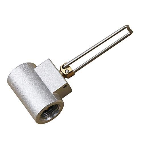 F Fityle Herramienta de Conector de Adaptador de Recarga de Tanque de Gas Plano de Válvula de Inflado de Tanque de Gas Al Aire Libre