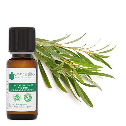Huile Essentielle de Niaouli - 100% Pure et Naturelle - HEBBD - Utilisation Polyvalente - Idéal pour Diffuseur - Parfum Frais pour une Ambiance Sereine - 10ml - VOSHUILES