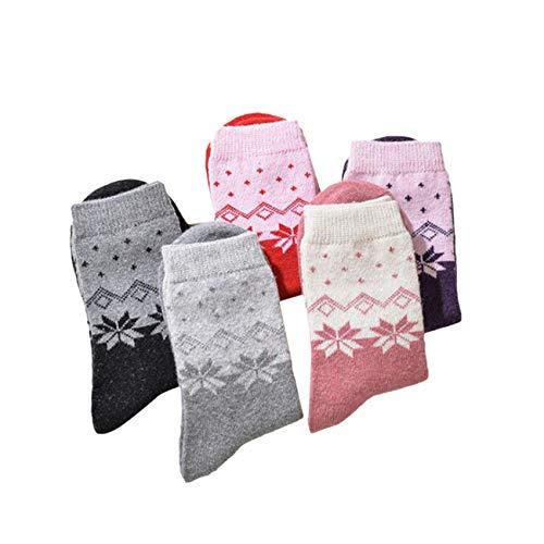 Figutsga - Calcetines de algodón para mujer, diseño de animales, diseño de flores, octogonal (mujeres)